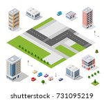 urban district of the city in... | Shutterstock .eps vector #731095219