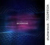 network connection concept blue ... | Shutterstock .eps vector #731095534