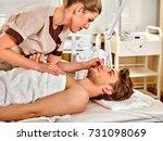 man facial massage beauty salon.... | Shutterstock . vector #731098069