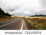 rainy autumn in the mountains | Shutterstock . vector #731103574