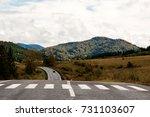 rainy autumn in the mountains | Shutterstock . vector #731103607