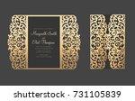 gate fold elegant laser cut... | Shutterstock .eps vector #731105839