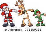 dabbing christmas characters.... | Shutterstock .eps vector #731109391