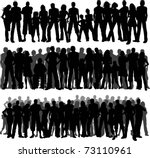collection of huge crowds of... | Shutterstock .eps vector #73110961