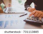 business analysis   calculator  ... | Shutterstock . vector #731113885