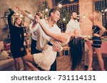 excited  welldressed  cheerful  ... | Shutterstock . vector #731114131