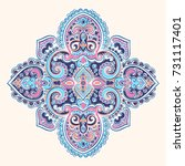 beautiful indian indian mandala.... | Shutterstock .eps vector #731117401