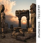 3d Rendered Fantasy Ancient...