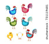 cartoon chicken  chicken... | Shutterstock . vector #731119681