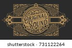 western design with floral and... | Shutterstock .eps vector #731122264