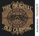 old camping design for logo or... | Shutterstock .eps vector #731122279