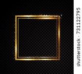 vector square frame. shining... | Shutterstock .eps vector #731122795