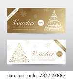 christmas gift voucher coupon... | Shutterstock .eps vector #731126887