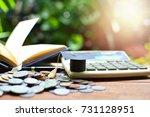hat graduation model on... | Shutterstock . vector #731128951