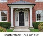 front door with columns | Shutterstock . vector #731134519