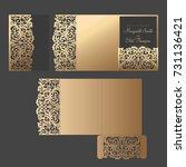 graceful tri fold pocket... | Shutterstock .eps vector #731136421