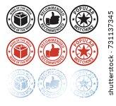 stamp symbols for sales online...   Shutterstock .eps vector #731137345