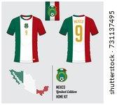 soccer jersey or football kit ...   Shutterstock .eps vector #731137495