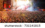 madrid   sep 9  the crowd in a... | Shutterstock . vector #731141815