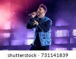 Small photo of BENICASSIM, SPAIN - JUL 13: The Weeknd (Rhythm and blues music band) perform in concert at FIB Festival on July 13, 2017 in Benicassim, Spain.