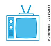 old tv isolated | Shutterstock .eps vector #731142655