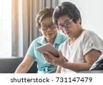 aging society concept with... | Shutterstock . vector #731147479