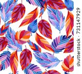 seamless decorative pattern... | Shutterstock . vector #731147929