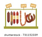 sausages counter display or... | Shutterstock .eps vector #731152339