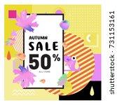 autumn sale memphis style web... | Shutterstock .eps vector #731153161