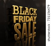 black friday sale gold... | Shutterstock . vector #731156479