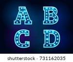 light font bulb text alphabet... | Shutterstock .eps vector #731162035