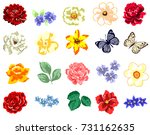 flower set | Shutterstock .eps vector #731162635