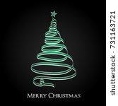 christmas tree greeting card... | Shutterstock .eps vector #731163721