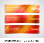 set of modern vector banners... | Shutterstock .eps vector #731163781