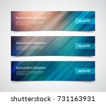 set of modern vector banners... | Shutterstock .eps vector #731163931