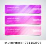 set of modern vector banners... | Shutterstock .eps vector #731163979