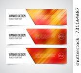 set of modern vector banners... | Shutterstock .eps vector #731164687