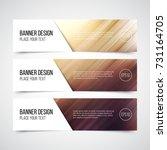 set of modern vector banners... | Shutterstock .eps vector #731164705