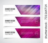set of modern vector banners... | Shutterstock .eps vector #731164714