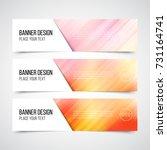 set of modern vector banners... | Shutterstock .eps vector #731164741