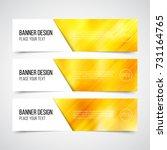 set of modern vector banners... | Shutterstock .eps vector #731164765