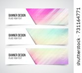 set of modern vector banners... | Shutterstock .eps vector #731164771