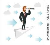 cartoon character  businessman... | Shutterstock .eps vector #731172487