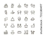 spa icon set. collection of... | Shutterstock .eps vector #731180497