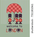welcome to london vector poster ... | Shutterstock .eps vector #731181061