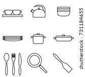 vector illustration of thin... | Shutterstock .eps vector #731184655