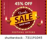 diwali sale  diwali banner ...   Shutterstock .eps vector #731191045