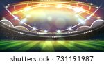 lights at night and football... | Shutterstock . vector #731191987