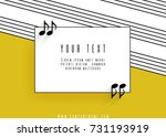 quotes in the form of musical... | Shutterstock .eps vector #731193919