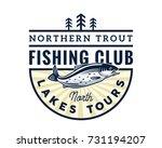 modern summer fishing logo... | Shutterstock .eps vector #731194207